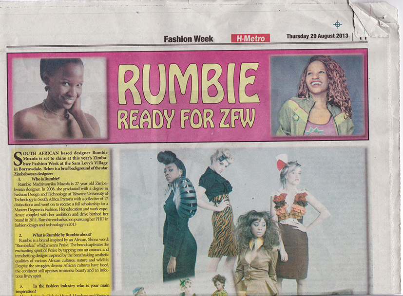 METRO NEWSPAPER FEATURES RUMBIE BY RUMBIE | Rumbie by Rumbie